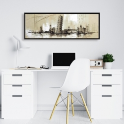 Framed 16 x 48 - Pise tower sketch