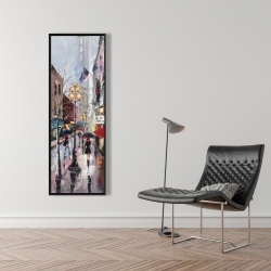 Framed 16 x 48 - Rainy day in new york
