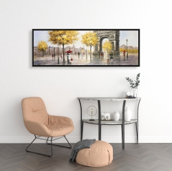 Framed 16 x 48 - Arc de triomphe to paris