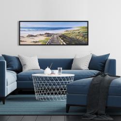 Framed 16 x 48 - Walk to the seaside