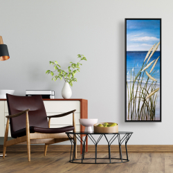 Framed 16 x 48 - Wild herbs on the beach