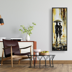 Framed 16 x 48 - Couple under the rain