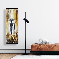 Framed 16 x 48 - Silhouettes under the rain