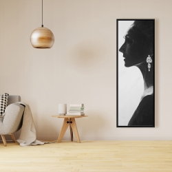 Framed 16 x 48 - Chic woman