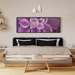 Framed 16 x 48 - Purple flower closeup
