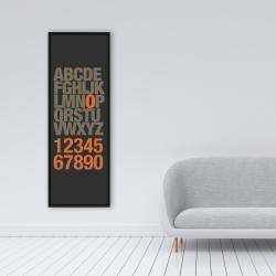 Framed 16 x 48 - Alphabet and number