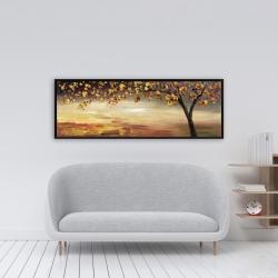 Framed 16 x 48 - Fall tree
