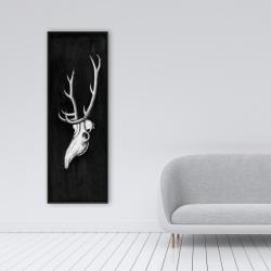 Framed 16 x 48 - Deer skull in the dark