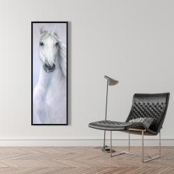 Framed 16 x 48 - Powerful white horse