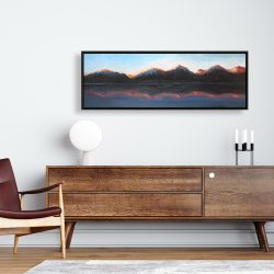 Framed 16 x 48 - Mountains landscape