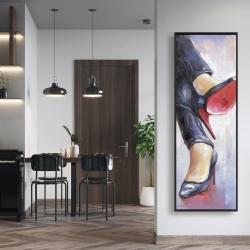 Framed 16 x 48 - Crossed legs and high heels