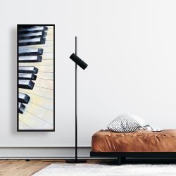 Framed 16 x 48 - Piano closeup