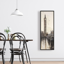 Framed 16 x 48 - Big ben in london