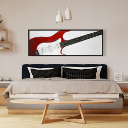 Framed 16 x 48 - Red rock guitar