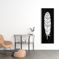 Framed 16 x 48 - Native american feather