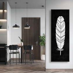 Framed 16 x 48 - Feather with patterns