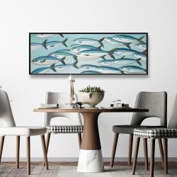 Framed 16 x 48 - Small fish of caesio caerulaurea
