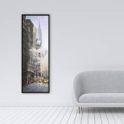 Framed 16 x 48 - Morning in the streets of new-york city