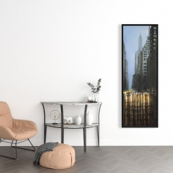 Framed 16 x 48 - Evening in the streets of new-york city