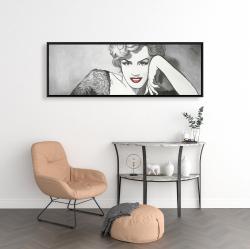 Framed 16 x 48 - Vintage style marilyn monroe