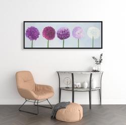 Framed 16 x 48 - Dahlia pompon