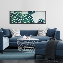 Framed 16 x 48 - Opuntia cactus 1