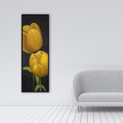 Framed 16 x 48 - Two daffodils flowers