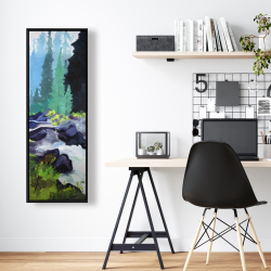 Framed 16 x 48 - Beautiful waterfall
