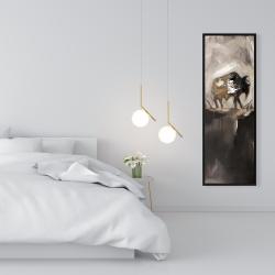 Framed 16 x 48 - Abstract buffalo