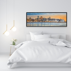 Framed 16 x 48 - Skyline of quebec city