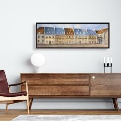 Framed 16 x 48 - Old quebec city