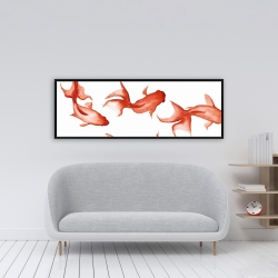 Framed 16 x 48 - Small red fishes