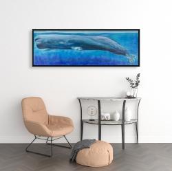 Framed 16 x 48 - Sperm whale