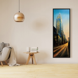 Framed 16 x 48 - In the street of empire state building