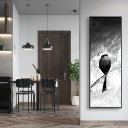 Framed 16 x 48 - Four birds perched