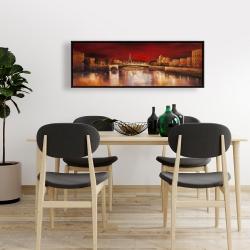 Framed 16 x 48 - Paris by red dawn