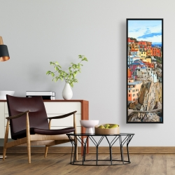 Framed 16 x 48 - View of manarola in italy