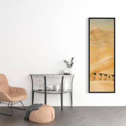 Framed 16 x 48 - Walking in the desert