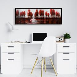 Framed 16 x 48 - Red trees