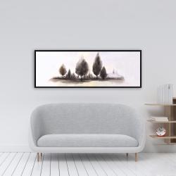 Framed 16 x 48 - Landscape of trees