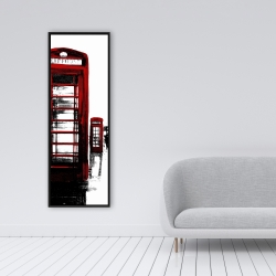 Framed 16 x 48 - Telephone box and big ben of london