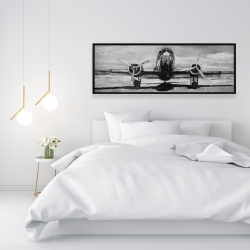 Framed 16 x 48 - Grayscale plane