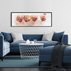 Framed 16 x 48 - Four little flowers