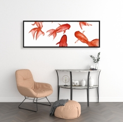 Framed 16 x 48 - Red fishes