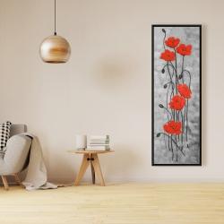 Framed 16 x 48 - Long stem flowers