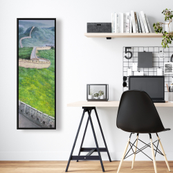 Framed 16 x 48 - Great wall of china