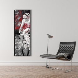 Framed 16 x 48 - Professional red cyclist