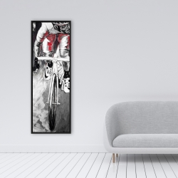 Framed 16 x 48 - Red cyclist