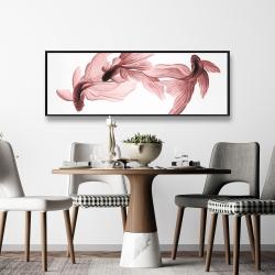Framed 16 x 48 - Red betta fish