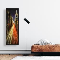 Framed 16 x 48 - Lively city